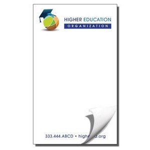 "3 5/16"" x 5 1/2"" Value Full-Color Notepads - 50 Sheets"