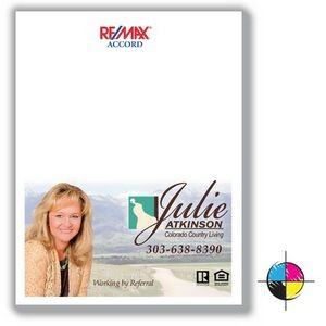 "4 1/8"" x 5 1/2"" Value Full-Color Notepads - 50 Sheets"