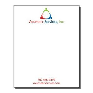 "4"" x 5"" Full-Color Notepads - 25 Sheets"
